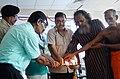 "The ADG (M&C), PIB, Kolkata, Shri Debanjan Chakrabarti alongwith other dignitaries lightning the lamp at the inaugural function of the Media Workshop ""Vartalap"", at Udaipur, Gomati District, Tripura on July 03, 2017.jpg"