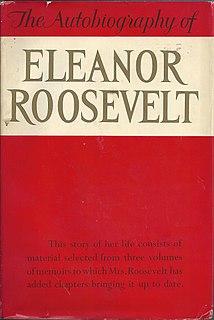 <i>The Autobiography of Eleanor Roosevelt</i> 1961 autobiography of Eleanor Roosevelt