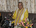 The Chairman of the Public Accounts Committee, Shri Murli Manohar Joshi addressing the media, in New Delhi on March 24, 2011.jpg
