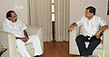 The Chief Minister of Karnataka, Shri Jagadish Shettar meeting the Union Minister for Corporate Affairs, Dr. M. Veerappa Moily, in New Delhi on July 17, 2012.jpg