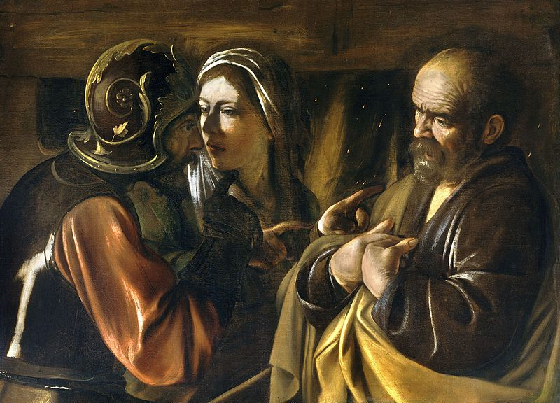 Ficheiro:The Denial of Saint Peter-Caravaggio (1610).jpg