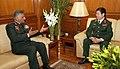 The Dy. CGS of Vietnam, Lt. Gen. Pham Xuam Hung meeting the Army Chief, Gen. V.K. Singh, in New Delhi on December 01, 2011.jpg