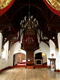 The Great Hall of the Hendre with hammer-beam roof