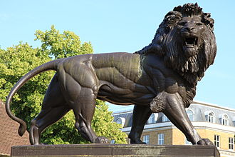 Maiwand Lion - Close-up of the lion