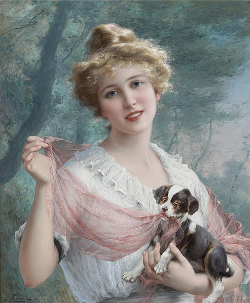 493px-The_Mischievous_Puppy_by_Emile_Vernon.jpg (493×599)