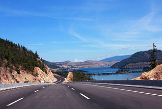 British Columbia Highway 97 - Okanagan Highway passing through Lake Country, north of Kelowna