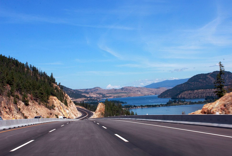 The New Highway upgrade at Lake Country Okanagan Valley, BC, Canada