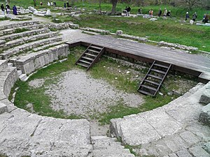 The Odeon of Troy IX, built by Augustus and renovated by Hadrian in 124 AD, Troy (Ilion), Turkey (7446737508).jpg