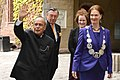 The President, Shri Pranab Mukherjee with the Mayor of Stockholm, Ms. Karin Wanngard and the President of the Stockholm City Council, Ms. Eva Louise Erlandsson Slorach, in Stockholm, Sweden on June 01, 2015.jpg
