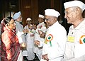 The President, Smt. Pratibha Patil and the Prime Minister, Dr. Manmohan Singh meet Freedom Fighters during the 'At Home' function at Rashtrapati Bhavan in New Delhi on August 9, 2007.jpg