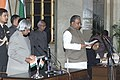 The President Dr.A.P.J.Abdul Kalam administering the Oath (Cabinet Minister) to Shri Prem Chand Gupta, in New Delhi on January 29,2006.jpg