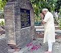 The Prime Minister, Shri Narendra Modi paying tributes to the great Chandra Shekhar Azad, during his visit to Chandra Shekhar Azad Park, in Allahabad, Uttar Pradesh on June 13, 2016.jpg