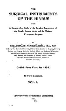 The Surgical Instruments of the Hindus Vol 1.djvu