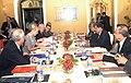 The Union Minister for Shipping, Shri G.K. Vasan meeting a high level Belgian delegation led by the Her Royal Highness, Princess Astrid of Belgium, in Mumbai on November 27, 2013.jpg