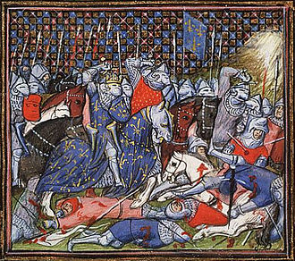 Cassel, Nord - The battle between the Flemish and the French at Cassel by the Virgil Master, c. 1410