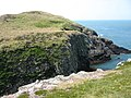 The chasm between the west and east sections of Ynys y Fydlyn - geograph.org.uk - 1377949.jpg