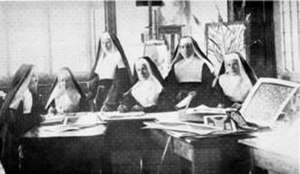 Kenmare lace - Poor Clare nuns who designed the lace (1889)