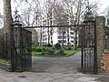 The entrance gates to St. Andrew's Gardens from Wren Street, WC1 - geograph.org.uk - 1229131.jpg