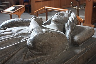 Marjorie Bruce - The face of Marjorie Bruce on her tomb, Paisley Abbey