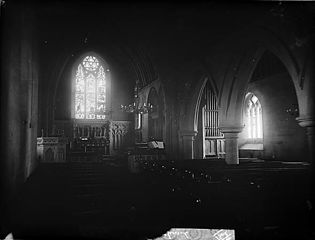 The interior of the church, Llanddulas