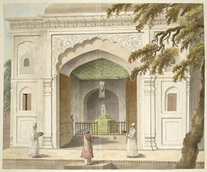 Rohilkhand - An old Painting of the dargah of ruler of Rohilkhand, Sardar Hafiz Rahmat Khan