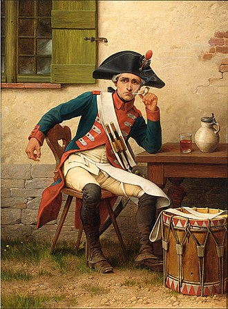 1st New Jersey Regiment - The smoker, the drummer of the Jersey Blues by Théophile Lybaert