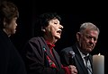 Theresienstadt Concentration Camp German Jewish Holocaust Survivor Inge Auerbacher makes a comment during the candle lighting ceremony of the 2013 Federal Inter-Agency Holocaust Remembrance Day.jpg