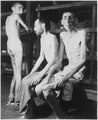 These Russian, Polish, and Dutch slave laborers interned at the Buchenwald concentration camp averaged 160 pounds... - NARA - 531267.tif
