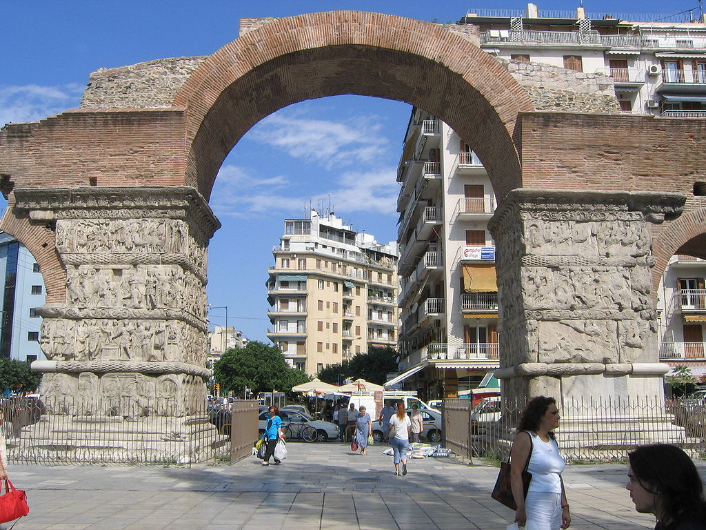 Thessaloniki-Arch of Galerius (eastern face)