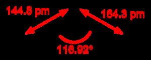 Thiazyl fluoride - Image: Thiazyl fluoride 2D dimensions