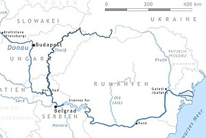 Map of the Tisza and southern part of the Danube