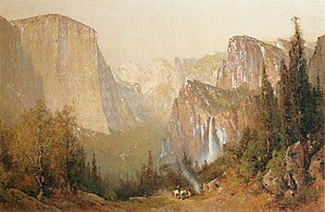 "Wawona Hotel - ""Yosemite Valley"" oil painting by Thomas Hill"