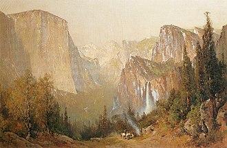 "Wawona Hotel - ""Yosemite Valley"" oil painting by Thomas Hill"