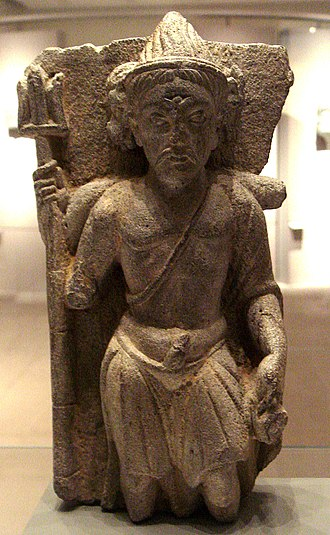 Shiva - Three-headed Shiva, Gandhara, 2nd century AD