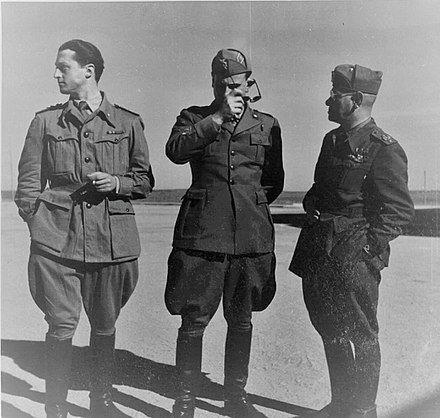 From left to right: Generals Nicolini, Baldassarre and Lombardi. Three Italian generals.jpg