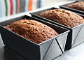 Three banana bread loaves in tins, February 2010.jpg