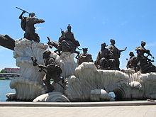 Groupe des Huit Immortels au bord de la Hai He