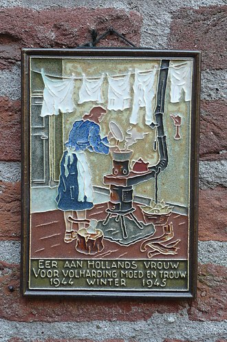 Prenatal nutrition - A tile tribute to the Dutch Famine