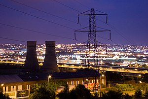 Tinsley Towers and Meadowhall at Night