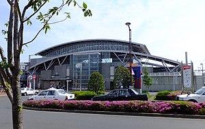 Tobitakyū Station - Tobitakyū Station north exit, May 2013