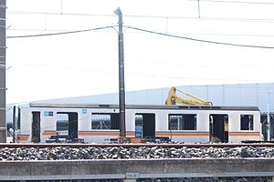 Tokyo Metro 01 series - Car 01-121 being cut up in March 2014