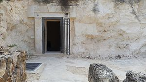 Cave of Nicanor - The entrance to the Pantheon
