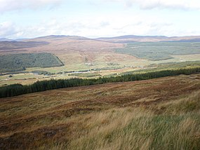 Tomchrasky Glen Moriston from above Coire an Eòin track - geograph.org.uk - 1526160.jpg