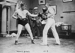 Tommy Burns (boxer) - Burns (left) during a sparring session