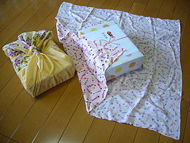 Traditional Japanese wrapping cloth,huroshiki,katori-city,japan.JPG