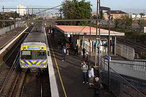 West Footscray railway station - Westbound view in September 2010 of the now demolished station