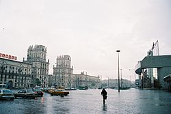 Train station square, Minsk 2010.jpg