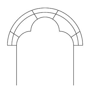 Trefoil arch - The Trefoil arch.