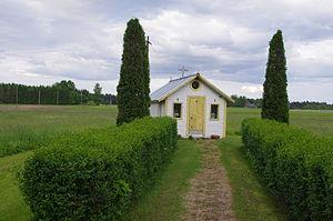 Treski - Wooden chapel (tsässon) in Treski.
