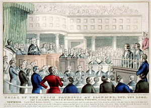 Clonmel - Young Irelanders stand trial before Justice Blackburne at Clonmel, 1848